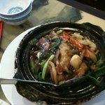 sizzly seafood pot
