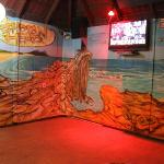 A mural of Indian Head at Fraser Island. Perfect for this setting