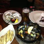 oysters and mussels.