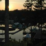 Painted Boat Resort Spa and Marina at sunset