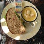 Egg salad & beer cheddar soup