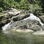 Private waterfall to hike to and swim in!