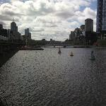 view of the Yarra River from the aquarium