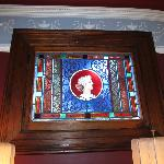 Original stained glass feature in lobby area