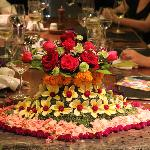 Table decorations for a party at Yudhistira