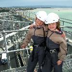 Top of the Auckland Harbour Bridge