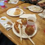 Good breakfast- yummy waffles.