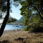 la plage côté Pinède