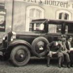 Taxi von Löser`s Gasthof um 1900