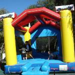 Lots of fun on the jumping castle