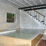 Plunge pool on the ground floor of the villa