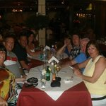 Group photo, last night at Seriani restaurant