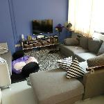 Very comfortable lounge with TV and DVDs etc.