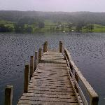 Pontoon onto Coniston Water from hotel grounds
