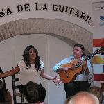 Cristina Tovar et José Luis Postigo dans la casa de la guitarra