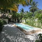 The pool in our villa