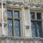 Close up of window lead glazing