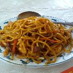 The combination lo mein