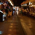 The side street with dining outside ... very entertaining