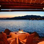 vue sur Porto Vecchio depuis le restaurant la Brocherie