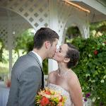 Kissing by the Gazebo
