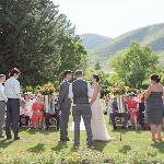 The front lawn, ceremony
