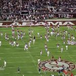 Alabama Football team warming up