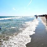 Beach goes forever