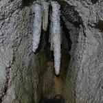 Large stalactites in Kfarhim Grotto