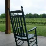 Rock on the Porch and View the Vineyard