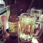 Ice-cold Pacifico while waiting for fish tacos!