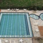 Las piscinas, vista desde las habitaciones.