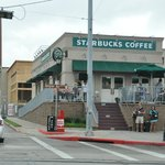 Starbucks across from the cruise terminal downtown