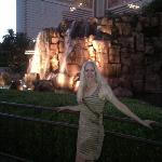 Anita on the strip of Vegas