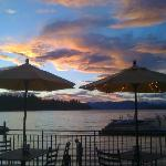 View from our lakeside restaurant
