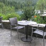 Patio dining overlooking the lake.