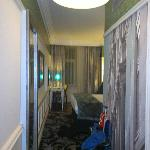 from entry to room, room 302