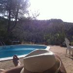 una delle due meravigliose piscine, il panorama è semplicemente mozzafiato!