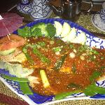 Whole snapper with chilli sauce