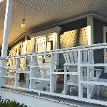 The lovely front porch of The Gibson Inn, Apalachicola.