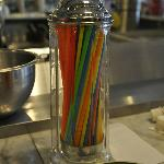Your choice of colored straws at the soda fountain
