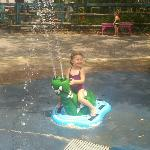 Very small splash pad