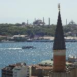 Hagia Sophia and Blue Mosque from Room 61