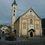 The lovely old church situated right over the road in the town square