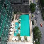 Pool view from 18th floor