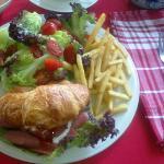 Smoked Chicken Croissant Sandwich