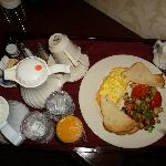 Our room service breakfast