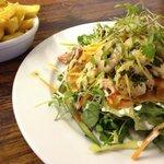 King prawn and salmon salad