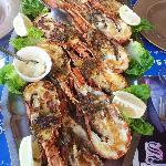 L'un des plats (pour 4) du menu à 250 dirhams