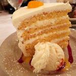 Mandarin dessert at Three Forks